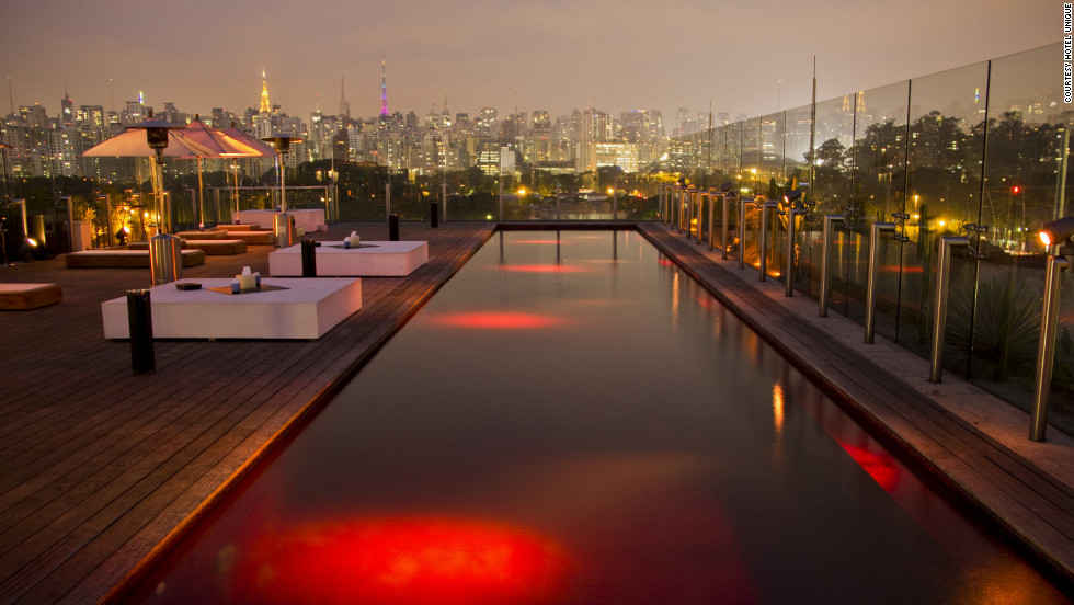 Hotel Unique with spectacular hotel rooftop pool, Brazil