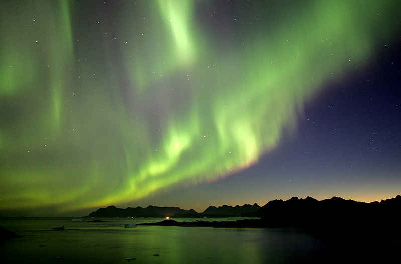 Greenland northern light