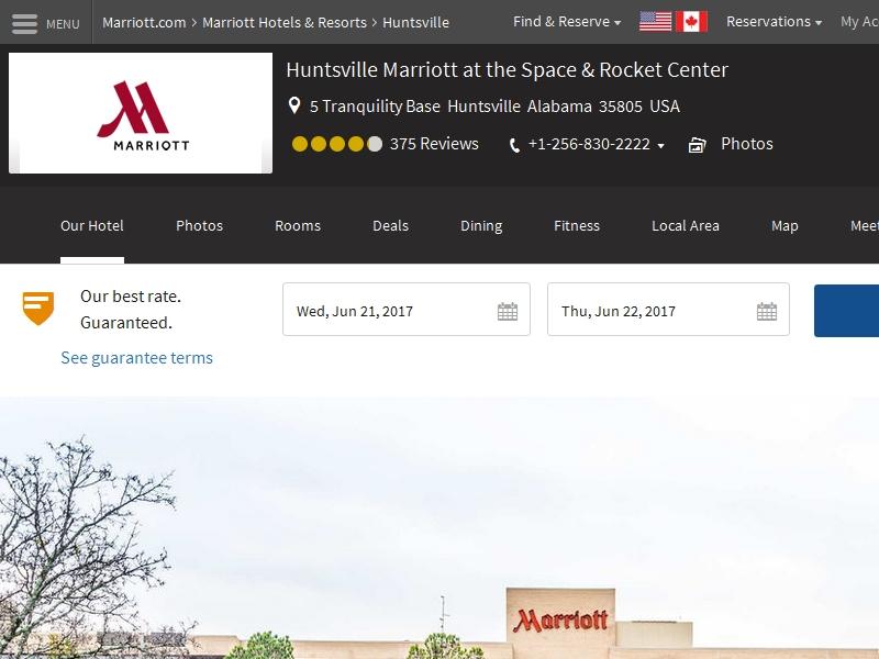 Huntsville Marriott at  the Space & Rocket Center