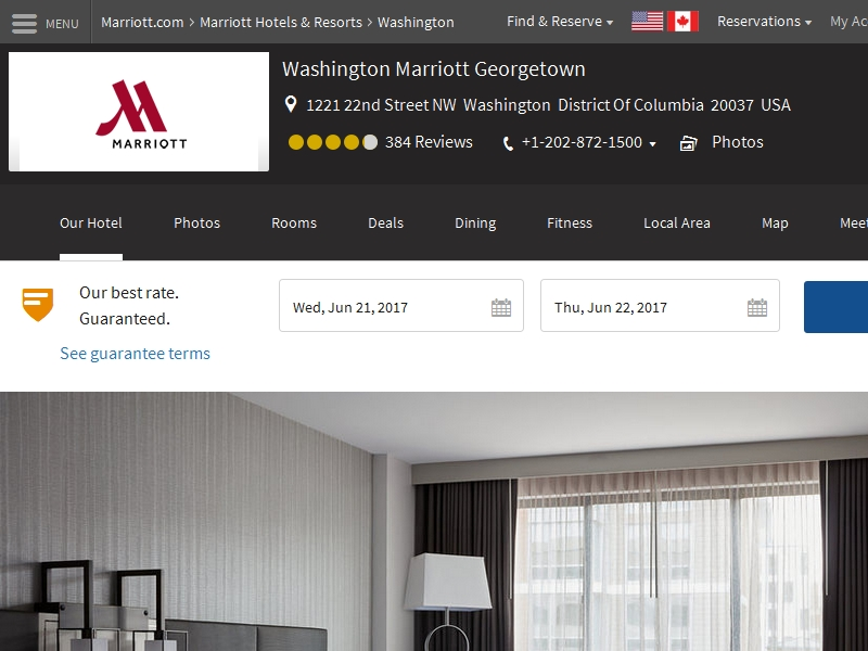 Washington Marriott  Georgetown
