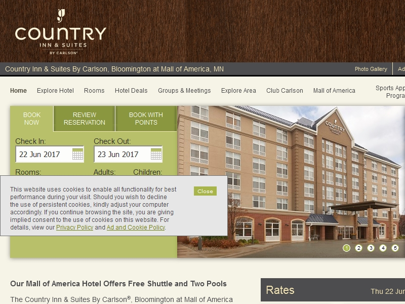 Country Inn & Suites  By Carlson, Bloomington at Mall of America, MN