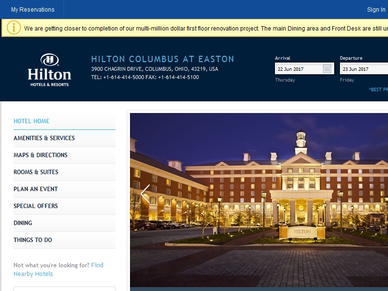 Hilton Columbus at  Easton