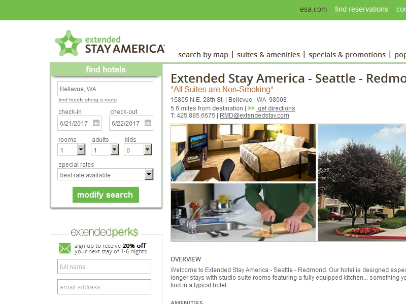 Extended Stay  America Hotel Seattle - Redmond