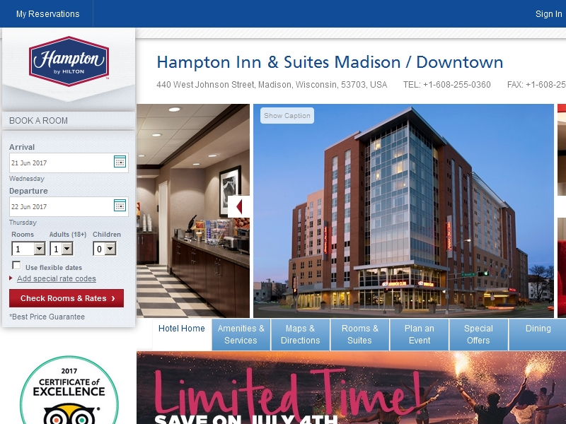 Hampton Inn & Suites  Madison / Downtown