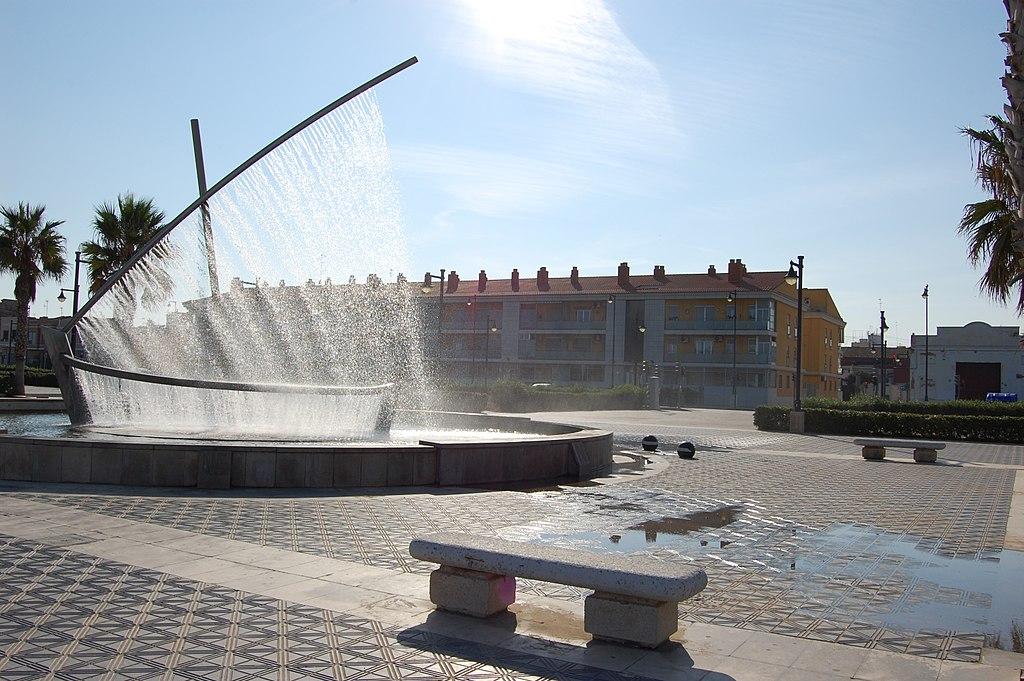 1. Water Boat Fountain - Valencia, Spain