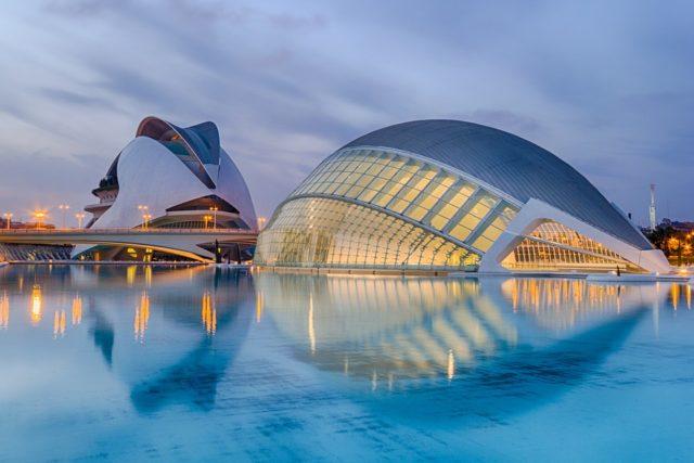 13. City of Arts and Sciences, Valencia (Spain)