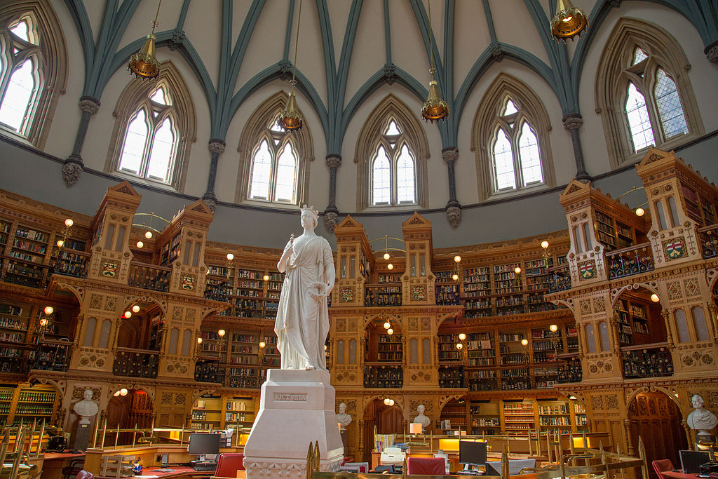 18. Library of Parliament in Ottawa, Canada