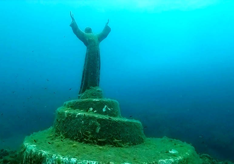 2. The Abandoned Christ of San Fruttuoso, Italy