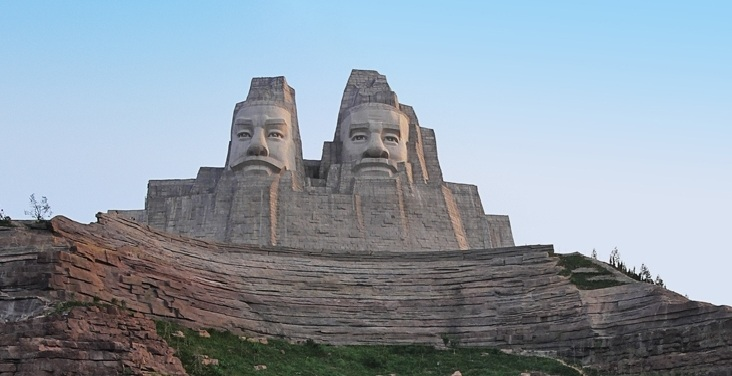 5. Statue of the Emperors Yan and Huang, China - 106 meters