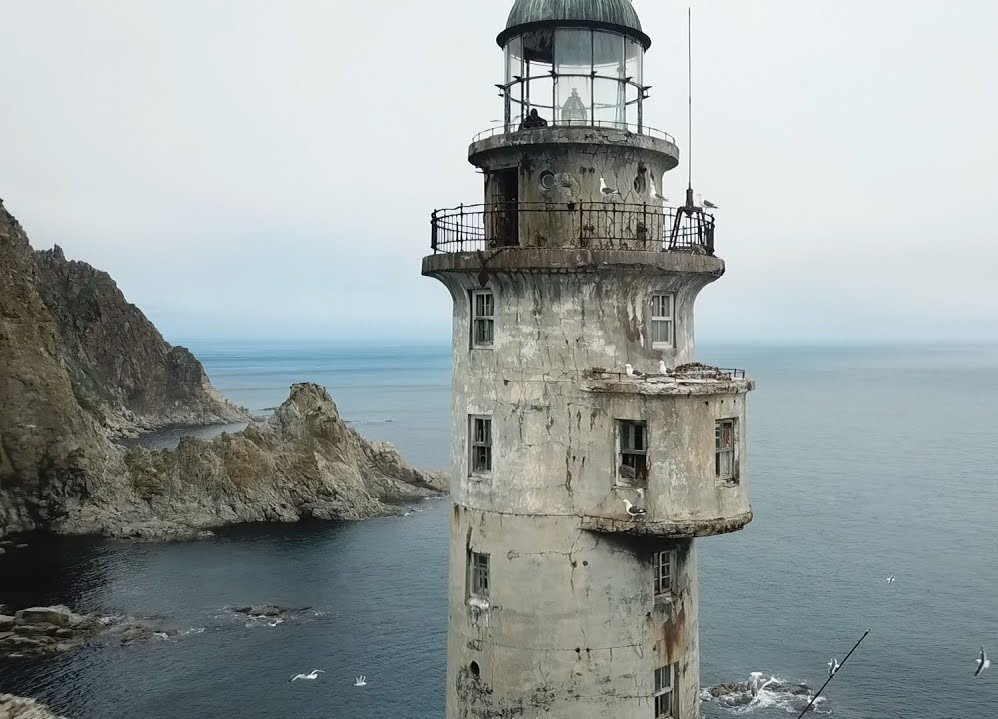 7. Aniva Rock lighthouse, Russia