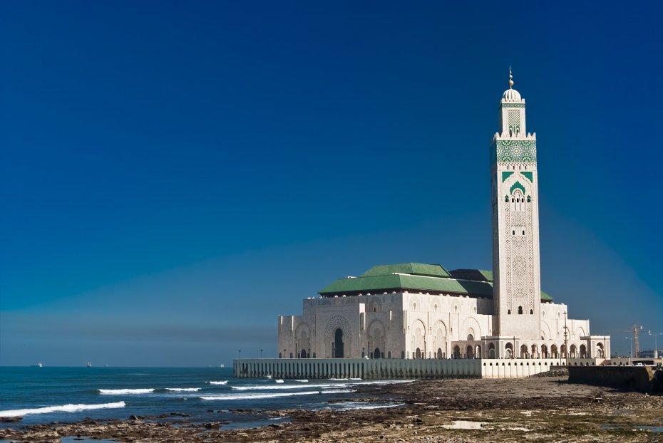 Casablanca Mosque Sea Morocco