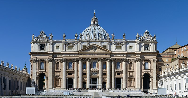 1. St. Peter's Basilica - Vatican City, Italy