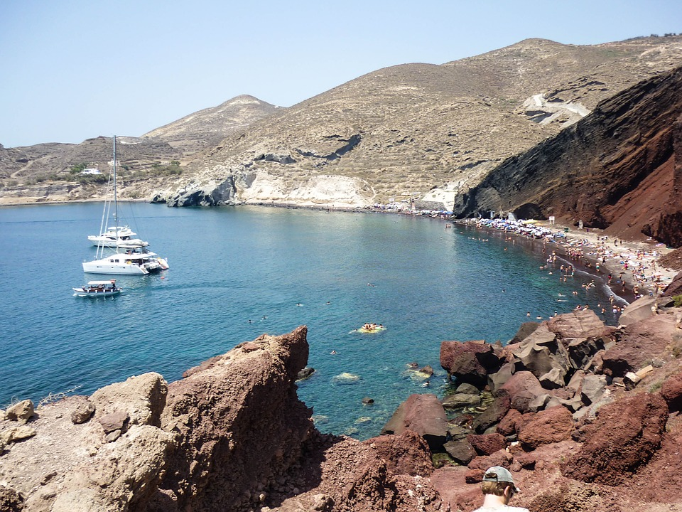 10. Santorini Red Beach - Greece