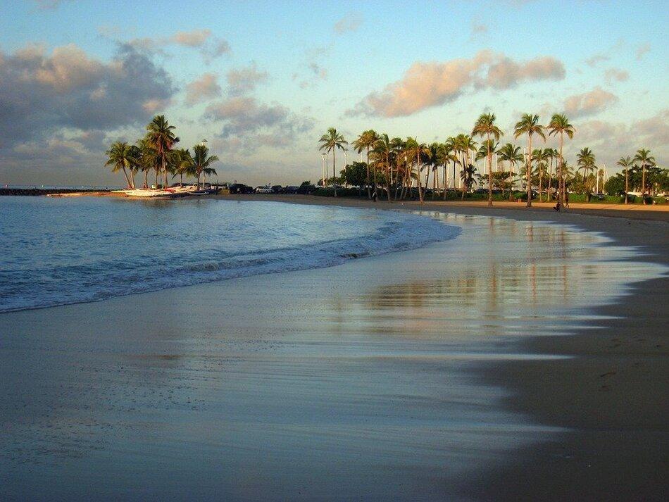 14. Waikiki Beach, Honolulu, Hawaii