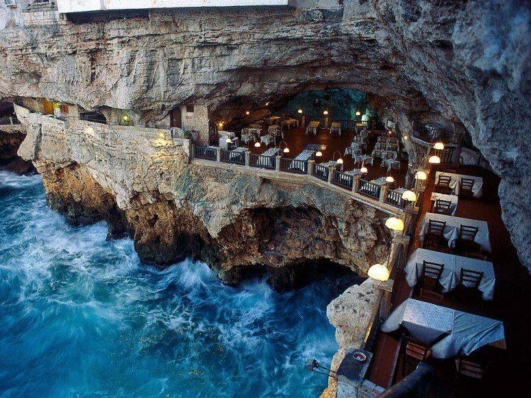 5. Grotta Palazzese - Polignano a Mare, Italy