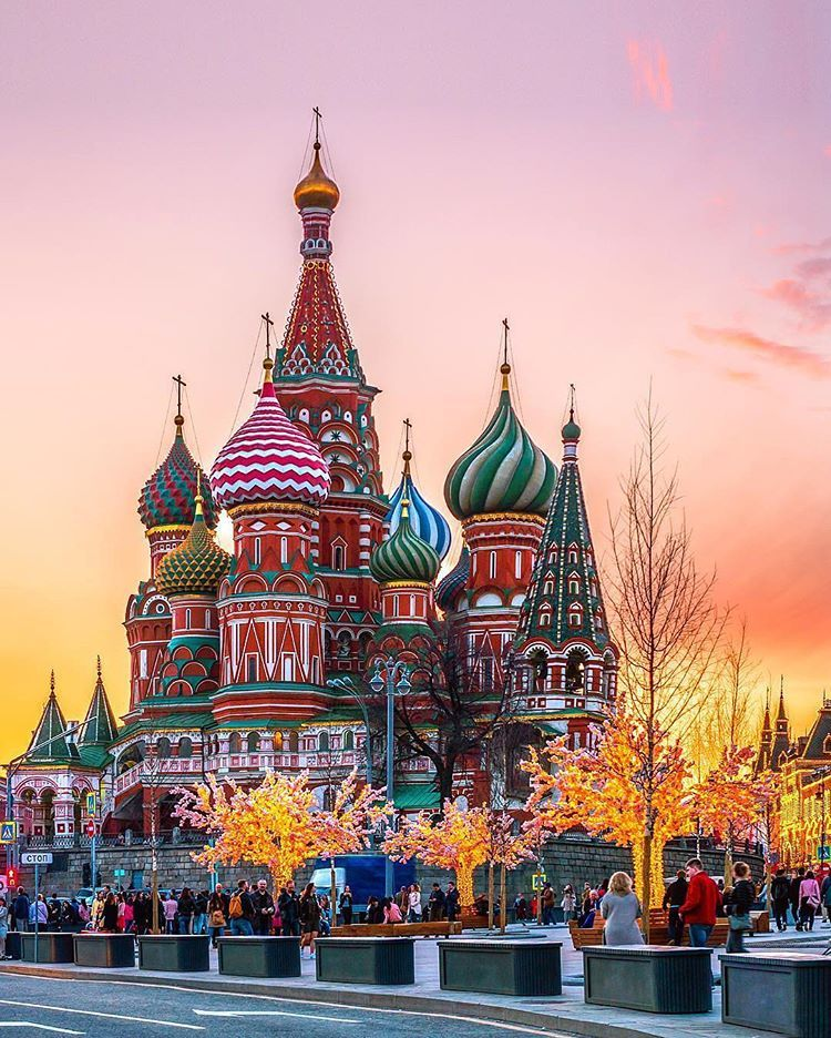 6. St. Basil's Cathedral - Moscow, Russia