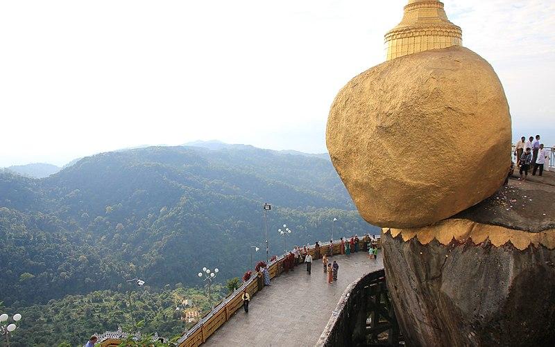 7. Kyaiktiyo Golden Rock, Burma