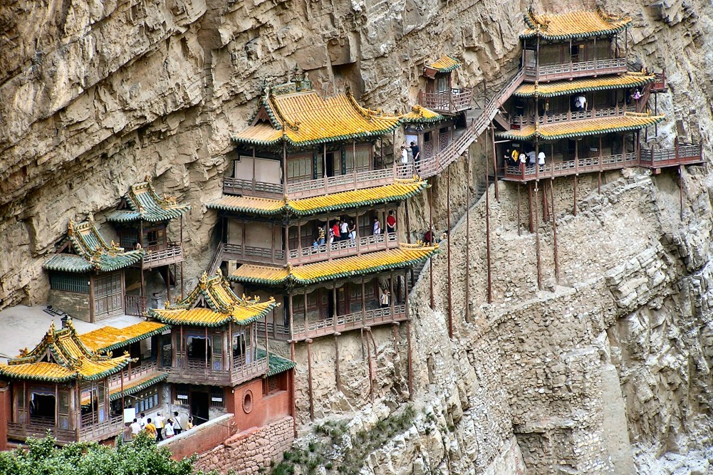 8. Xuánkōng Si or Hanging Temple - China