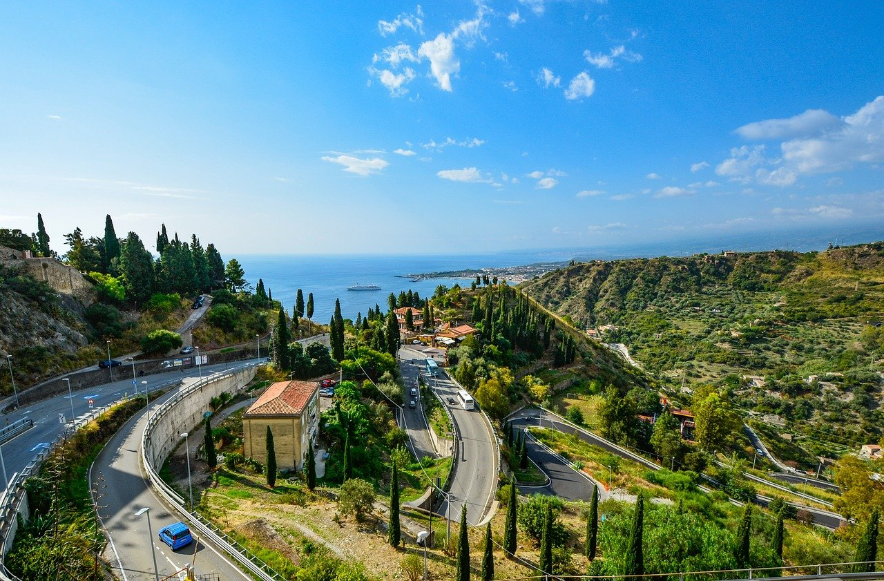 Panoramic Road Taormina - Syracuse, Sicily