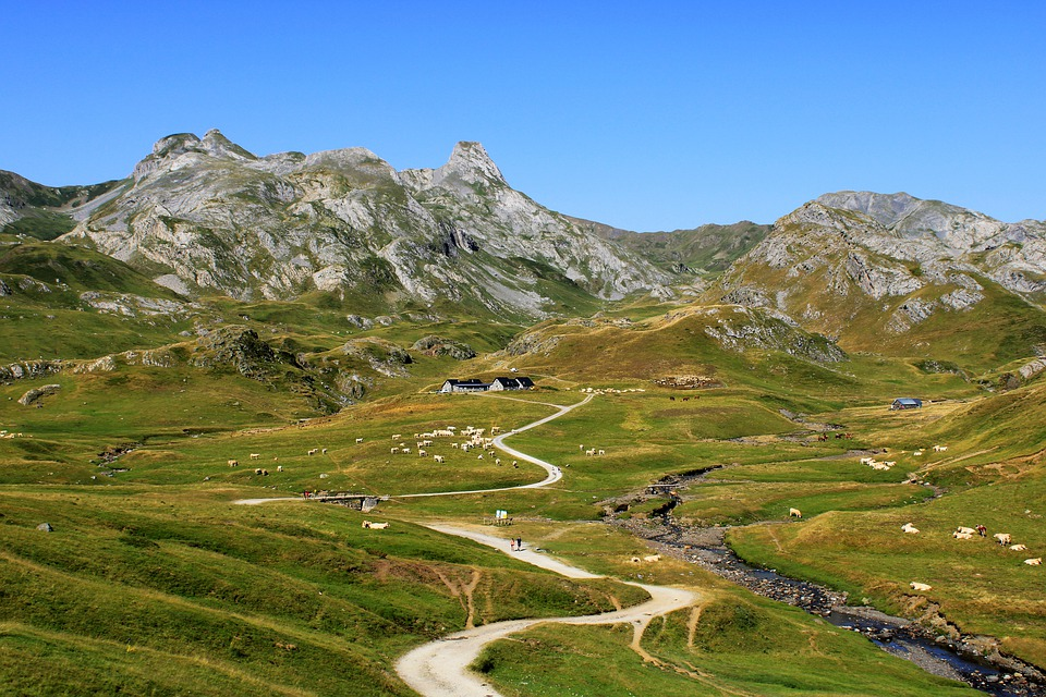 Panoramic Road in the Pyrenees, Spain - France