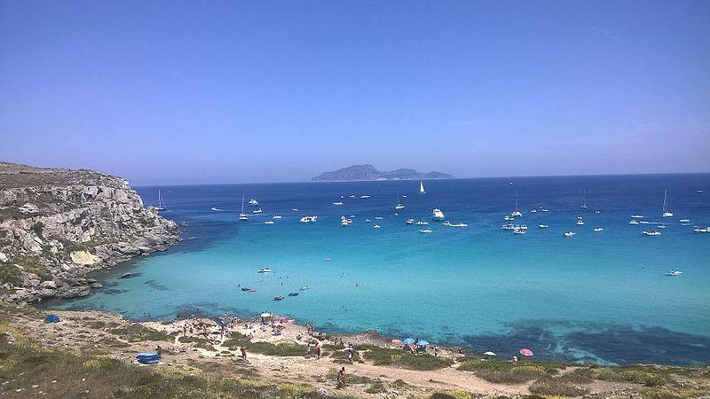 Cala Rossa Beach, Favignana