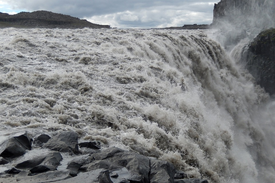 Watch the Dettifoss waterfall in Northern Iceland