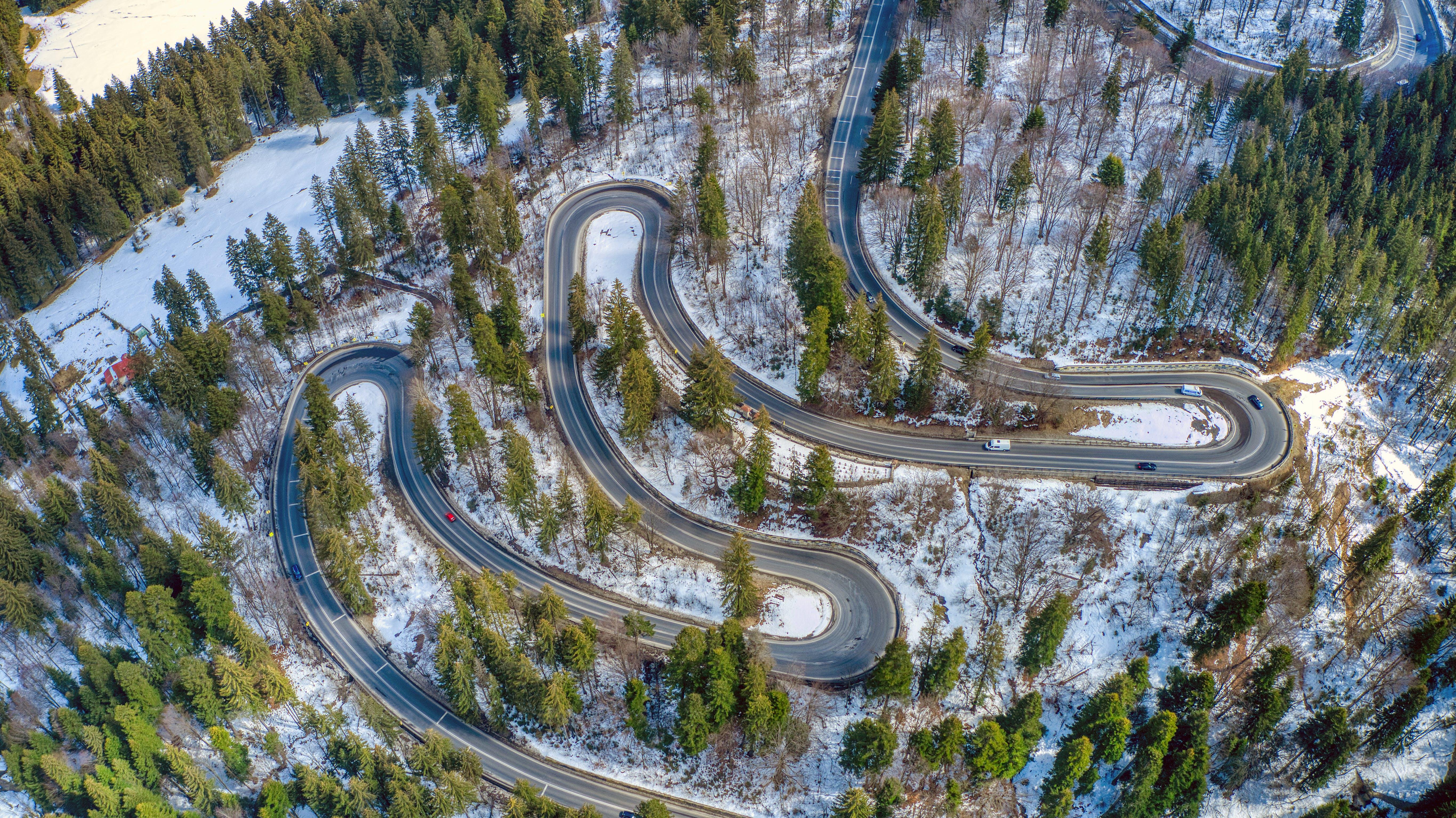 Free stock photo of asphalt, curve, guidance